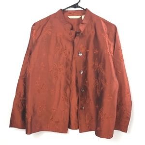 French Laundry  Deep Red Silk Blouse